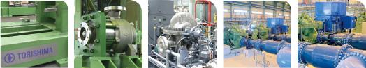 Torishima centrifugal pumps