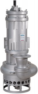 Submersible pump / dredging / with electric motor / for slurries