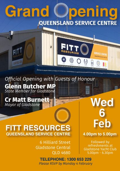 Queensland Service Centre Grand Opening FITT Resources