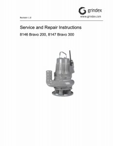 IOM Manual for Grindex Bravo 300 Tetra Line Pump