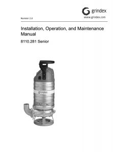Senior IOM Manual Grindex Pumps Australia