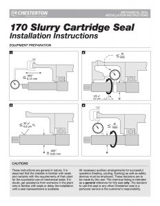 Installation Instructions Chesterton 170 Slurry Cartridge Seal