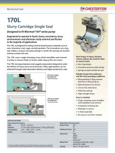 Data Sheet Chesterton 170L Slurry Cartridge Single Seal