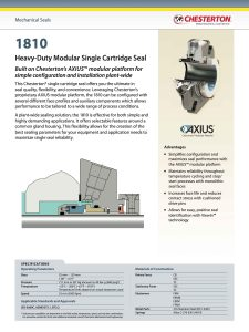 Data Sheet Chesterton 1810 Heavy Duty Modular Single Cartridge Seal