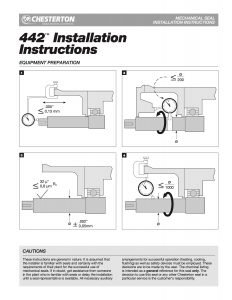 Installation Instructions Chesterton 442 Mechanical Seal