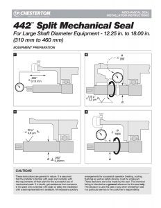 Installation Instructions Chesterton 442 Split Mechanical Seal 310-460