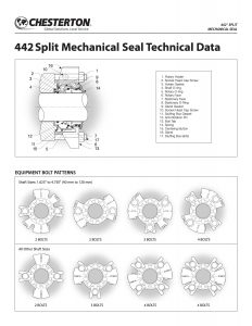 Data Sheet Chesterton 442 Split Mechanical Seal