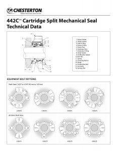 Data Sheet Chesterton 442C Split Mechanical Seal