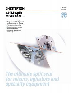 Data Sheet Chesterton 442M Split Mixer Seal