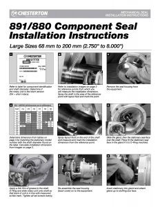 Installation Instructions Chesterton 891-880 Component Seal 68-200
