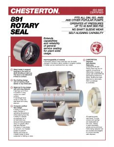 Data Sheet Chesterton 891 Rotary Seal