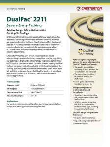 Data Sheet Chesterton DualPac 2211