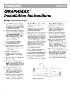 Installation Instructions Chesterton Graph Max